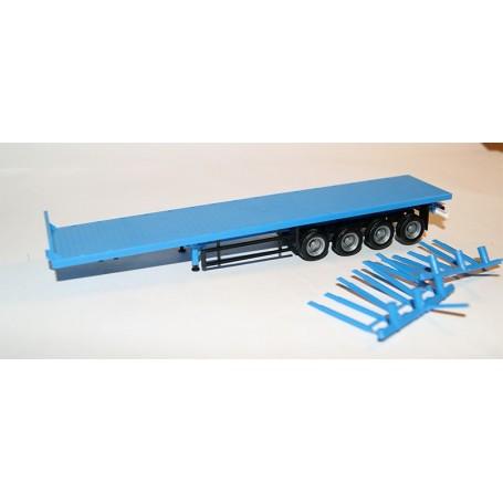 Herpa 921961.1 Stolptrailer, 4-axlig, blå