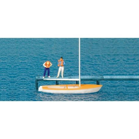 Preiser 10678 Seglare och segelbåt