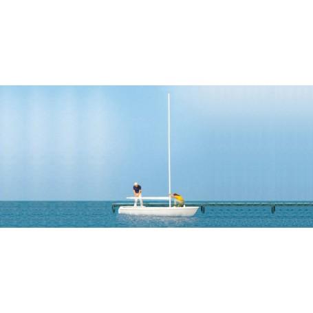Preiser 10680 Seglare och segelbåt