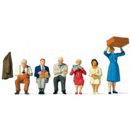Preiser 65368 Sittande figurer, 6 st