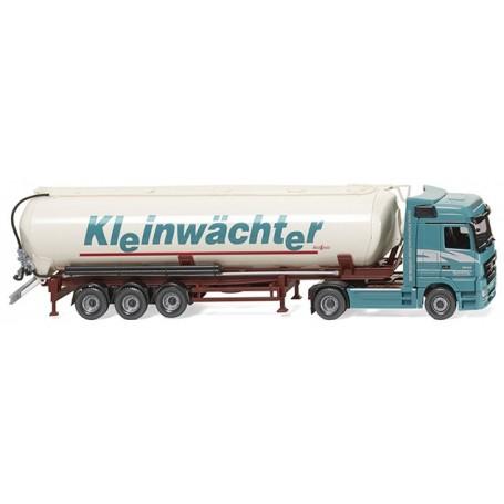 """Wiking 53102 Silo trailer truck (MB Actros/Spitzer) """"Kleinwächter"""""""