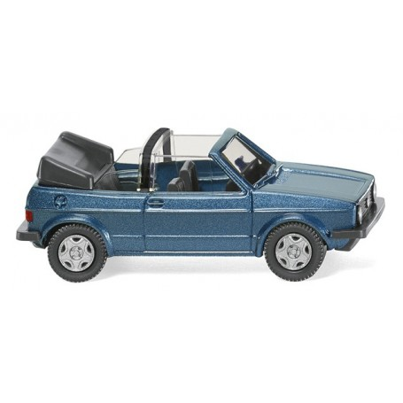 Wiking 04604 VW Golf I Cabrio - blue met, 1979