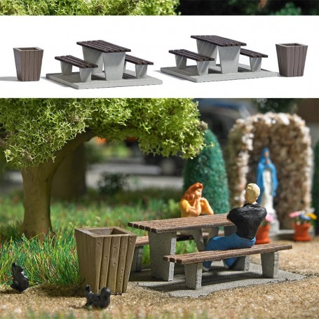 Busch 7729 Mini-World: Picnic Area