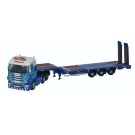 "Oxford Models 120419 Scania Highline Nooteboom 3-axle ""Stobart Rail"""