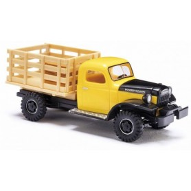 Busch 44019 Dodge Power Wagon Transporter med flak