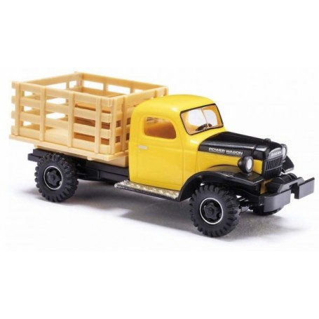 Busch 44019 Dodge Power Wagon Transporter med flak