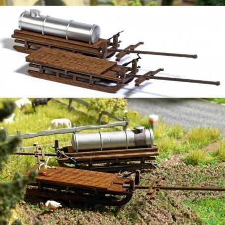 Busch 1631 Wooden Wagon Sleds