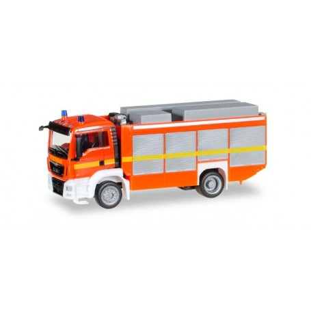 """Herpa 091077.2 MAN TGS M Euro 6 rescue vehicle, luminous red """"fire department"""""""