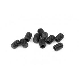 XRay 901406 Stoppskruv, M4x6mm, 10 st, svart