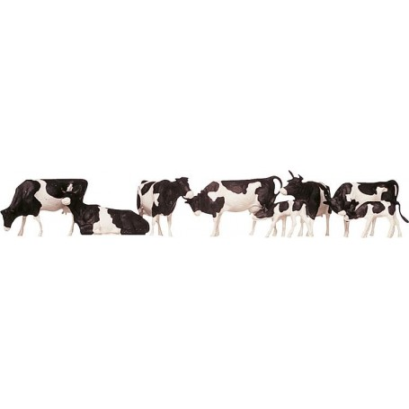Faller 154003 Kossor, svart/vita, 7 st