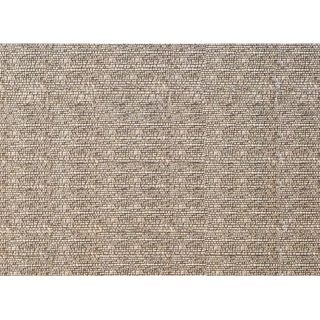 """Faller 222561 Murplatta """"Cobbles"""", mått 250 x 125 mm, papp"""