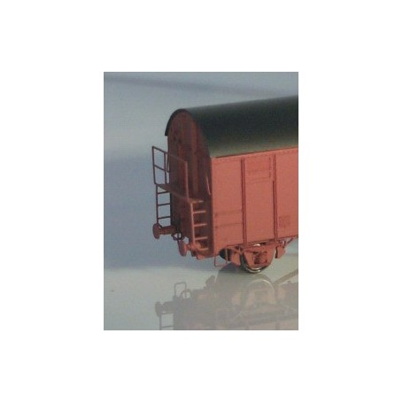 Entec 2227-1B Bromsplattform, G-vagn, obockad