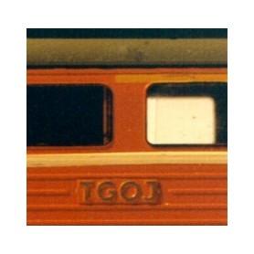 Entec 2229-2 TGOJ-reliefbokstäver, glesa, 2st