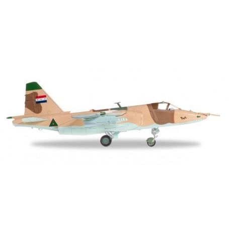 """Herpa 82MLCZ7206 Flygplan Iraqi Air Force Sukhoi SU-25K """"Frogfoot"""" &No.8722: Jalieah Air Base, Iraq, 1991"""