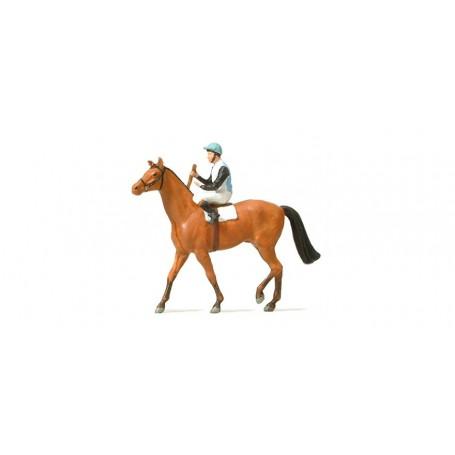 Preiser 29080 Jockey till häst, 1 st