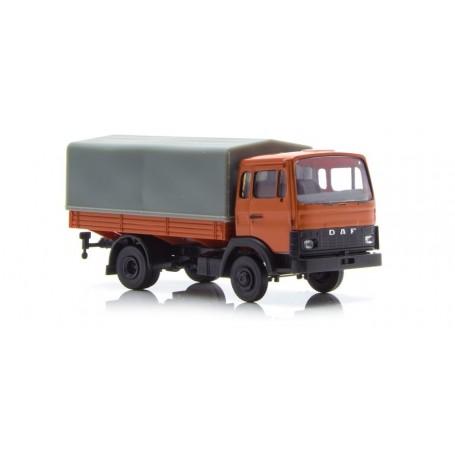 Brekina 34800 DAF F 900 med kapell, röd/orange