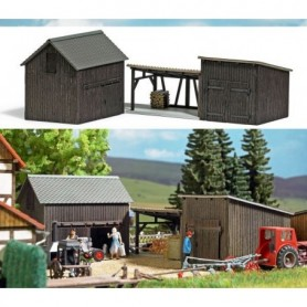Busch 1595 Wooden sheds and Shelter