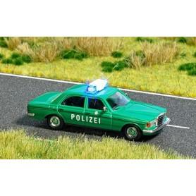 """Busch 5593 Mercedes Benz W123 """"Polizei"""" med belysning"""