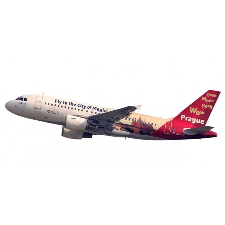 "Herpa 611138 Flygplan CSA Czech Airlines Airbus A319 ""Prague - City of Magic"""