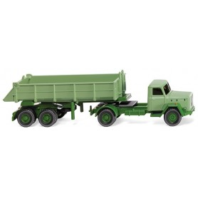 Wiking 67703 Rear tipper lorry (Mag. Sat.) light green, 1959