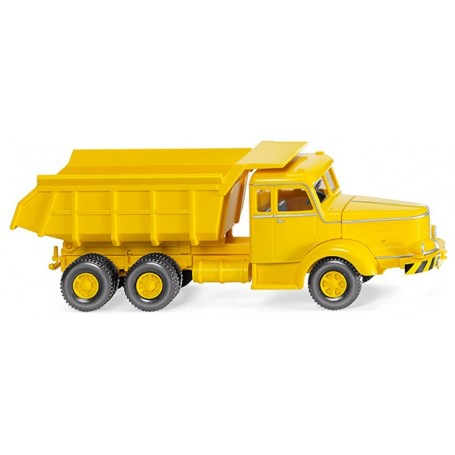 Wiking 86635 Tipper trailer (Krupp Titan) - yellow, 1950