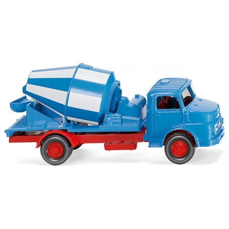 Wiking 53202 Concrete mixer (MB short-bonnet) - blue/white, 1969