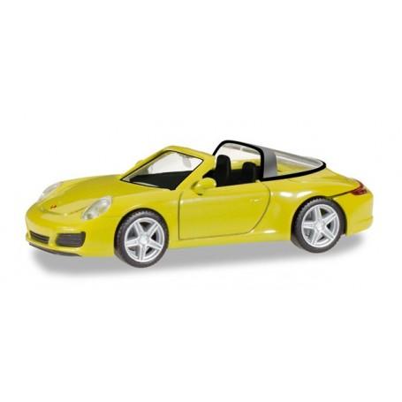 Herpa 028868 Porsche 911 Targa 4, racing yellow