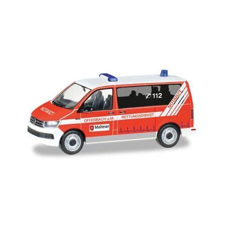 "Herpa 093415 VW T6 Bus ""Malteser Offenbach"""