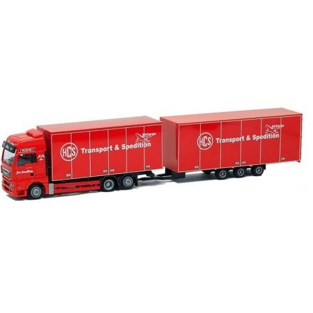 "AMW 74177 Bil & Släp MAN TGX XXL Tridem ""HCS Transport & Spedition Sundberg"""