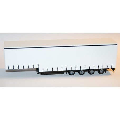 AMW 90637.1 Jumbo Gardintrailer 4-axlig, vit, omärkt