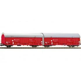 Fleischmann 837406 Vagnsset med 2 godsvagnar typ Hccrrs332 DB AG / DB Schenker