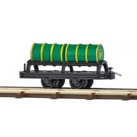 Busch 12238 Wagon with 2 Oil Barrels