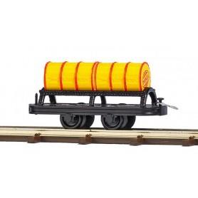 Busch 12239 Wagon with 2 Oil Barrels