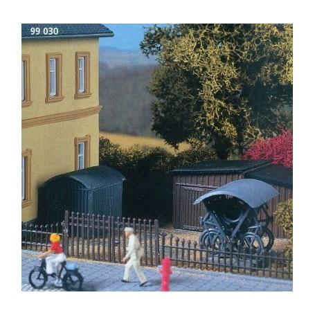 Auhagen 99030.2 Garage och cykelställ