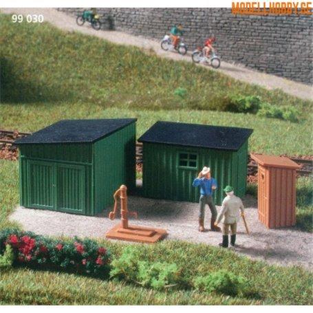 Auhagen 99030.3 Toalett, godsskjul, vattenpump