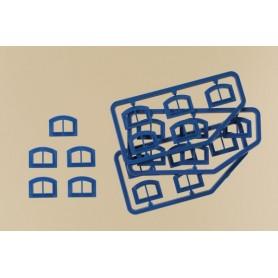 Auhagen 80218 Fönster M, blåa