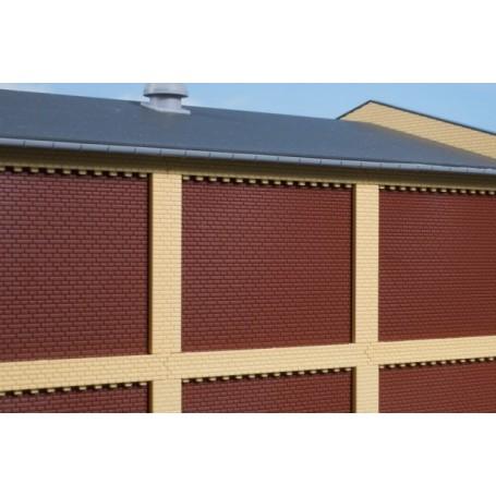 Auhagen 80417 Pillars for the upper storey and brick friezes yellow