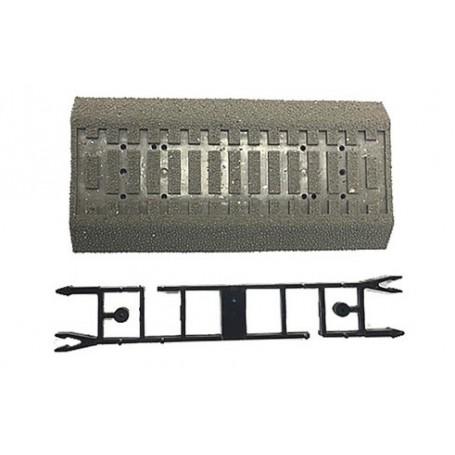 Roco 42661 Rälsbädd, för flexräls, med betongslipers