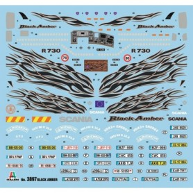 "Tåg & Hobby 3897.1 Dekalark, skala 1:24 ""Scania"""