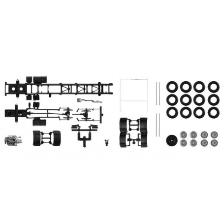 Herpa 084710 Chassis Scania R 4-achs LKW with U-protector (Content: 2 pieces)