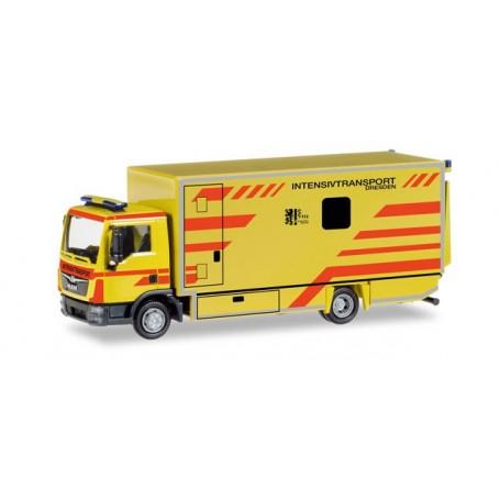 """Herpa 093347 MAN TGL box truck """"Intensivtransport Dresden"""""""