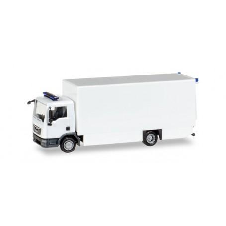 Herpa 013123 Herpa MiniKit: MAN TGL box truck, white / unprinted