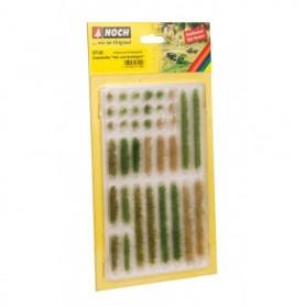 Noch 07125 Ljusa och mörkgröna grästuvor/stripes, 18 stripes samt 18 tuvor