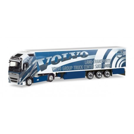 "Herpa 308014 Volvo FH 16 Gl. XL refrigerated box trailer ""Lang Transporte / Volvo Truck Center Sued GmbH"""