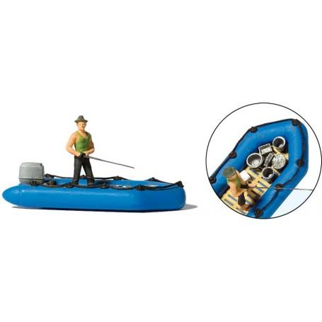 Preiser 10687 Fiskare och båt
