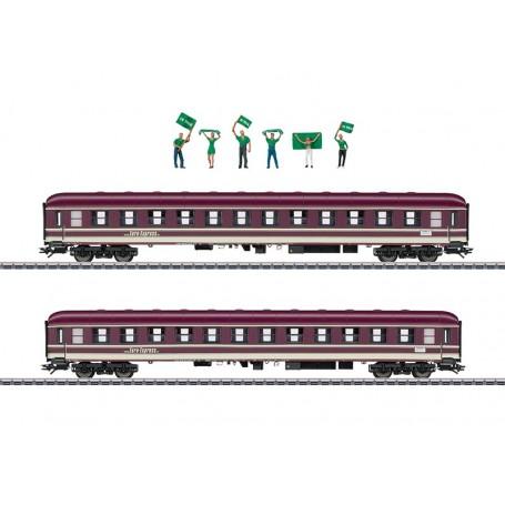 """Märklin 43946 Vagnsset med 2 personvagnar typ Bm """"Euro-Express"""""""