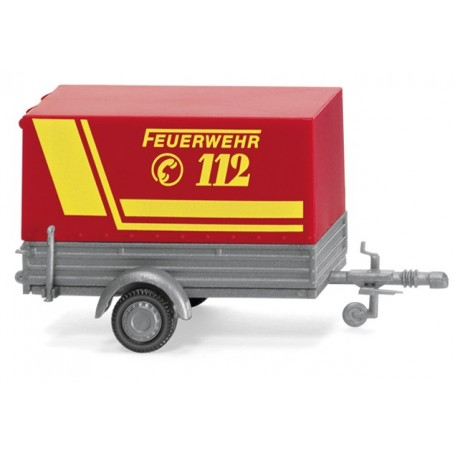 Wiking 05605 Fire brigade - passenger vehicle trailer