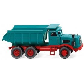 Wiking 86634 Tipper trailer (Kaelble) - water blue