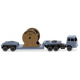 "Wiking 94939 Low-loader truck-trailer comb. (Hanomag Henschel) ""Nordk."""