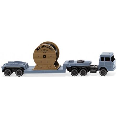 """Wiking 94939 Low-loader truck-trailer comb. (Hanomag Henschel) """"Nordk."""""""